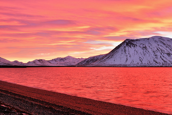 Incredible colors of Sunrise in Snaefellnes