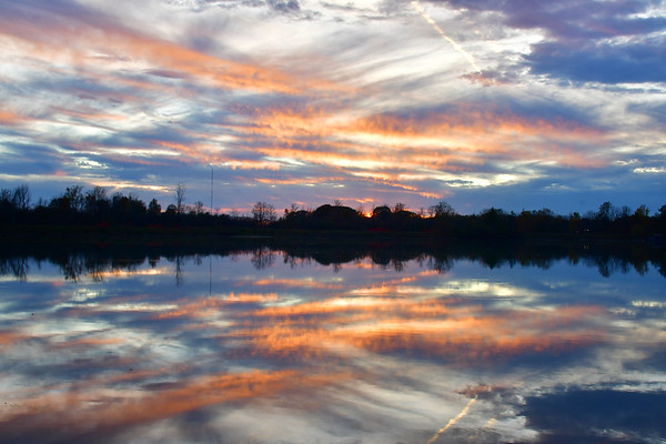 Great sunset on Lake Gibson