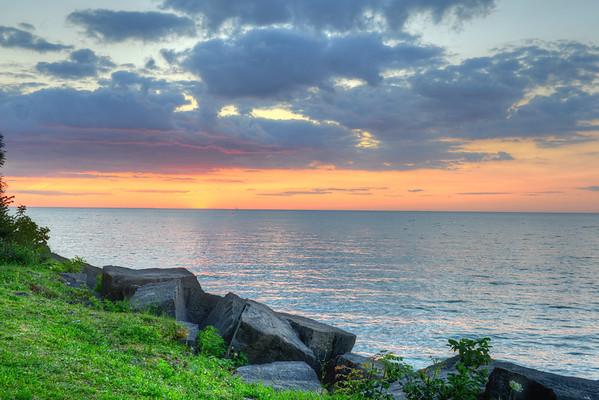 Sun below the horizon
