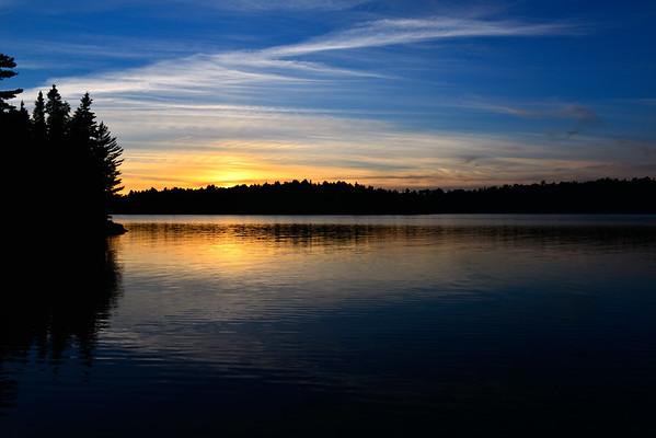 Blue Sunset on the Lake