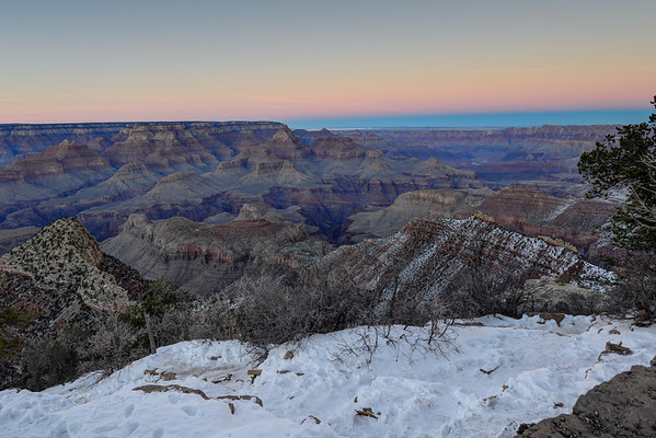 Sunset in Gand Canyon