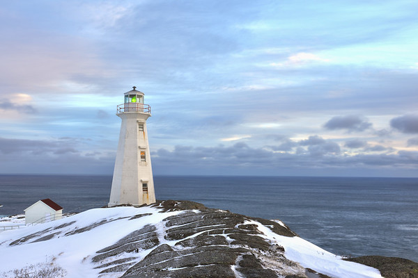 Colorful Cape Spear in morning