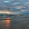 Lake Erie Sunset in November - panorama