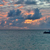 Two Boats in fiery sky