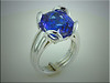 Unique 14K white gold mounting for customers tanzanite, designed and made by Ron Litolff