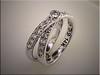 14K custom white gold diamond ring crossover design by Ron Litolff.l