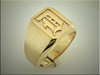 14K yellow gold gents initial D ring, made by Ron Litolff