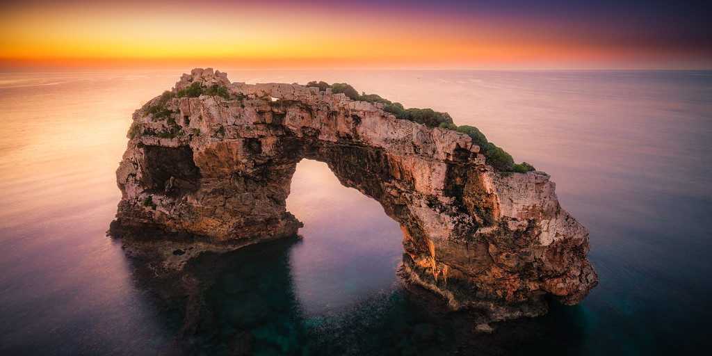 Before sunrise over Es Pontas, Mallorca