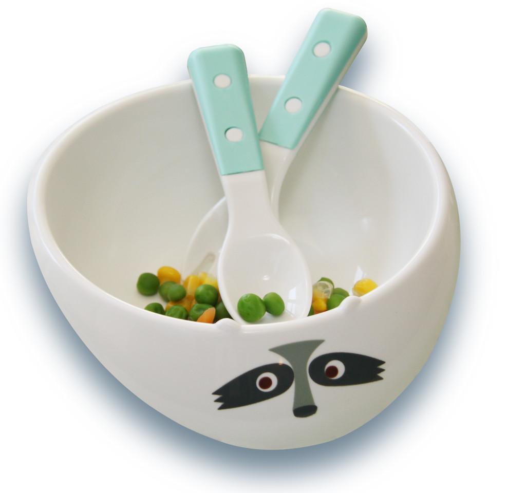 Racoon Eco Bowl & Utensil Gift Set