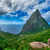 Pitons from Ladera Hotel