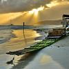 Bamboo Boat on Shore