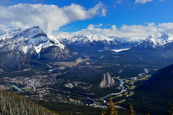 Banff from above