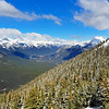 view from top of Sulphur Mountain Gondola