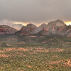 Fog rolling thruogh the Sedona Rocks