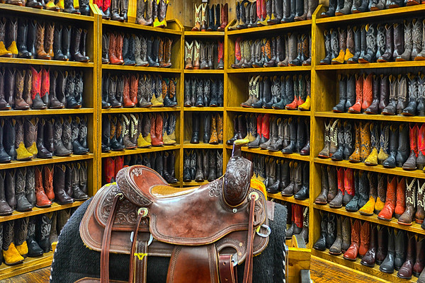 Cowbow Boots and saddle