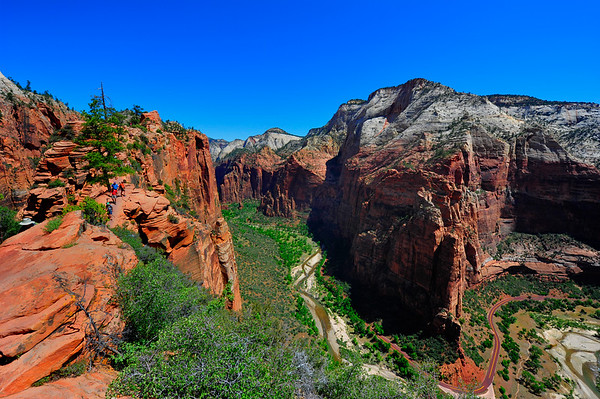 Majestic view form top of Angel's Landing