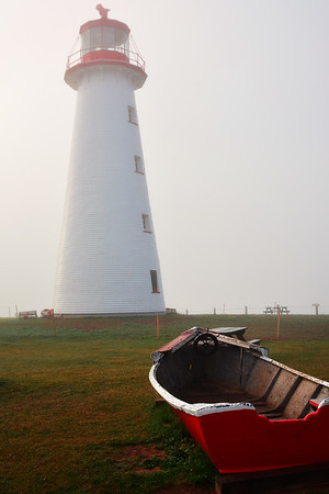 Foggy Prim Lighthouse