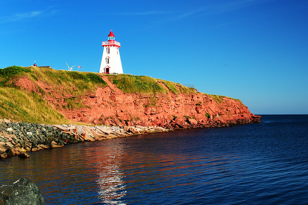 Souris Lighthouse reflecting