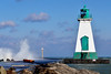 Port Lightouse and lots of water