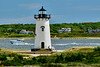 Edgartown Lighthouse with boat