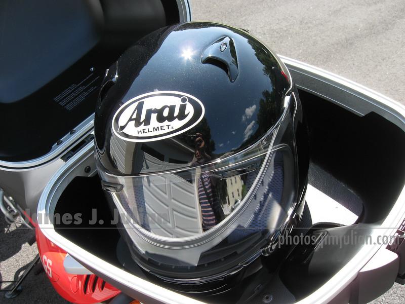 BMW Top Case and Helmet