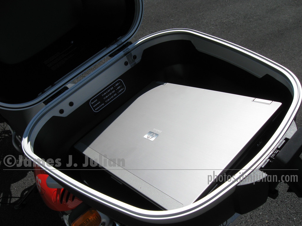 BMW Top Case and Computer 1