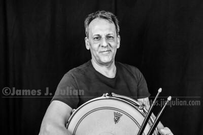 Jim Julian Drummer 3 BW