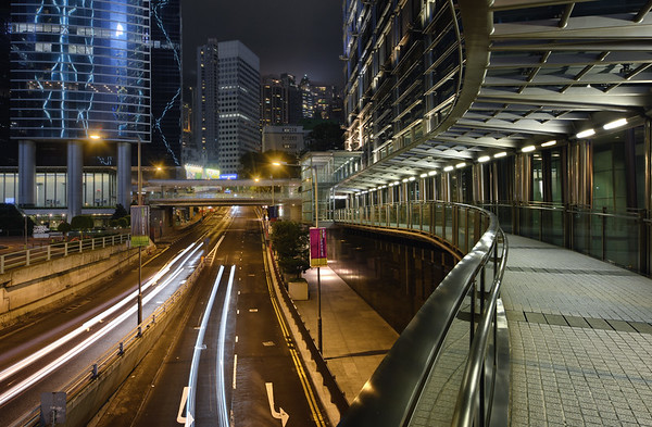 Streets Bend at Night