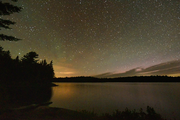 July 2017 - Starry Night and Northern Lights on Lake Restoule