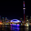 Toronto Skyline - CN Tower and Rogers Centre