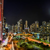 Panama City Skyline with car lights2