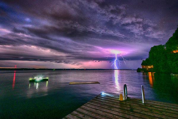 Lightning on Butternut BayHDR