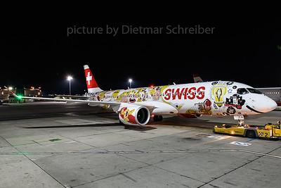 2018-02-03 HB-JCA Bombardier CS300 Swiss