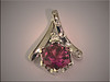 14K white gold mounting for hexagon shaped tourmaline by Ron Litolff