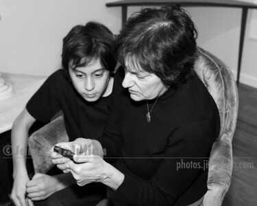 Rocco and Aunt Ann FE BW