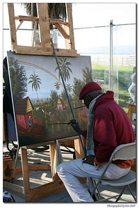 A painter on Venice beach, Califorina