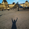 shadowing the louvre