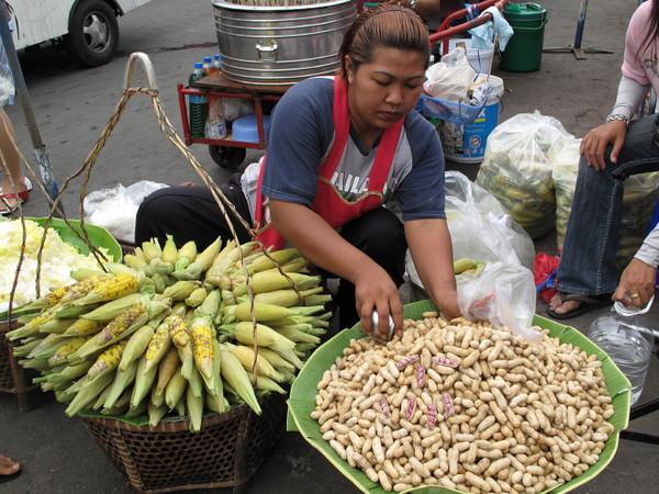 bananas and peanuts