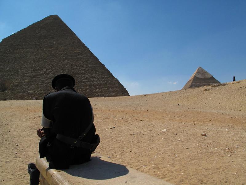 guarding the pyramids