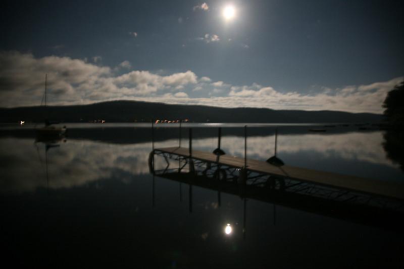 moon rise over lake otsego