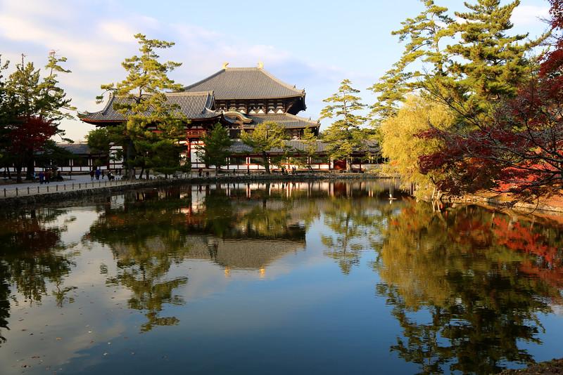 Todai-Ji Temple, reflected