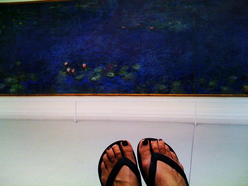 flip flops and lilies