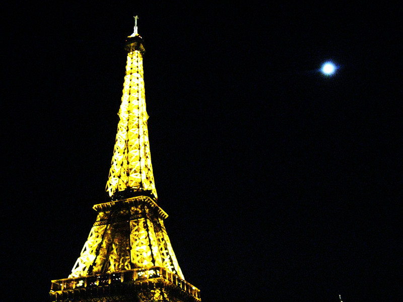 moon over eiffel