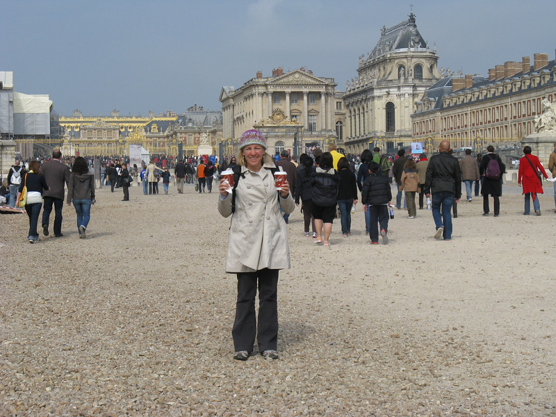 me, two coffees, Versailles