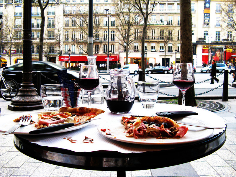 dinner along the Champs-Elysees