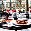 dinner along the Champs-Elysees