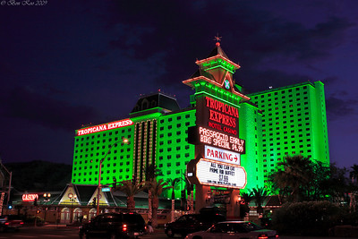 The first night at Tropicana in Laughlin, Nevada.