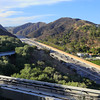 A view of 405 Freeway coming down from Getty museum
