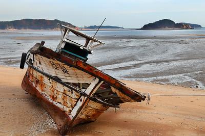 Retired fishing boat Yongyu-do, Incheon Korea