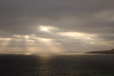 beams of lights coming through the clouds, Palos Verdes